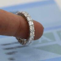 Engagement & Wedding Eternity Ring Anniversary Band 4.6Ct Diamond 14k White Gold