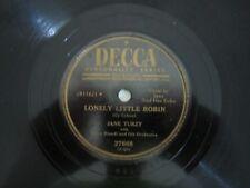 78 RPM-Decca 27668-Jane Turzy-Lonely Little Robin/Sweet Violets-1951