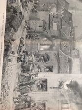 R3 Ephemera 1918 Book Plate 2 Page Folded House To House Fighting Ypres