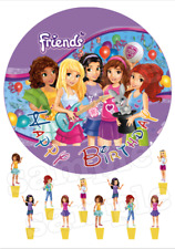 Lego Friends Decoration Gateau Disque Azyme Comestible Anniversaire Deco Party