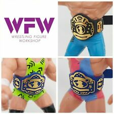 Belts for WCW WWF Hasbro Galoob Mattel Retro Figures - 1xWorld 2x Blue Tag WFW