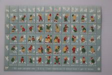 Denmark 1954 Christmas Seal mint sheet of 50 stamps