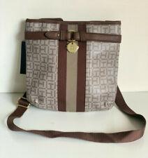 NEW! TOMMY HILFIGER BROWN PVC CROSSBODY MESSENGER SLING BAG PURSE $69 SALE