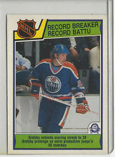 1983-84 OPC #212 WAYNE GRETZKY RECORD BREAKER  NICE CARD