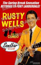 "Elvis Presley fan made Rusty Wells ""Girl Happy"" poster print 11 X 17"