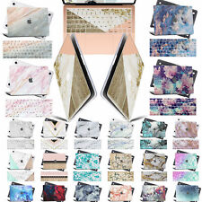 Matte Marble Skin Rubberized Hard Laptop Case KB Cover For New Macbook Pro Air