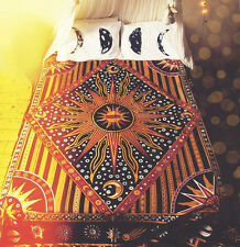 Celestial Tapestry Sun Moon Mandala Hippie Indian Wall Hanging Twin Bedspread