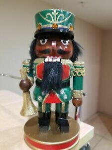 "Miniature 7"" Black African America Wooden Musician Nutcracker"