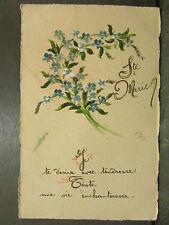 cpa fantaisie sainte marie bouquet de myosotis
