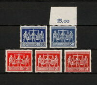 (YYAX 306) Germany 1948 TYPE MNH Mi 969a 969b 970a 970b Sc 584, 585 Occupation