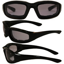 Foam Padded Motorcycle Sunglasses-24 Hour TRANSITION PHOTOCHROMIC LENS