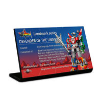 Display plaque  for  LEGO Ideas Voltron 21311(AUS Top Rated Seller)