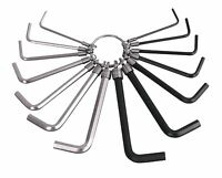 14PC Metric / Imperial Hex Hexagon Allen Alan Key Wrench Set With Key Ring New
