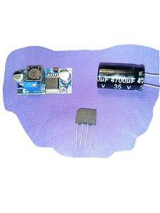 Voltage/Flicker Kit includes Adj. Regulator, Rectifier, and Capacitor.