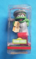 -RARE-  Ceramic Oscar The Grouch Ski Sesame Street Christmas Ornament In Box NEW