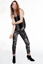 Urban Outfitters Sequin Skinny Pants Black LARGE by Silence + Noise  CHIC $99