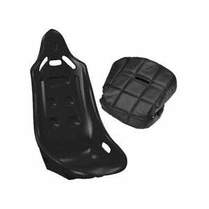 Summit Racing CSUM110 Seat and Cover Combo Highback Black Vinyl Polyethylene Set