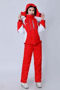 Women Ski Suit Warm Set Thermal Jacket+Pants Snowboard Snowsuit Set