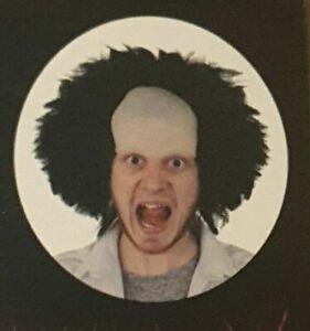 Halloween Black Hair Wig on Bald Cap Creepy Look Fancy Dress Costume - UK seller