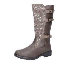 scarpe bambina IT'S FOR YOU 37 EU stivali beige pelle camoscio BR466-37