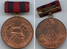 DDR Medaille treue Dienste Freiwillige Feuerwehr Bronze