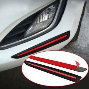 2x Car Bumper Sticker Front/Rear Carbon Fiber Scratch Protector Corner Guard