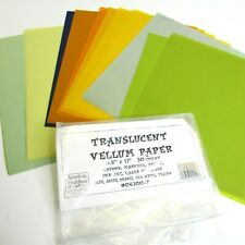 Translucent Vellum Paper Ink Jet Laser Friendly Multi Colors 29 Pieces 8.5 x 11""