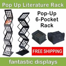 Pop Up Literature Display Stand or Brochure Rack for Magazines, Catalogs, Etc.