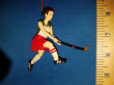 Field Hockey Ornament Girl in Red Skirt 72002 109
