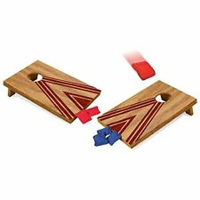Desk Corn Hole Game Table Top Mini Wooden Cornhole Bean Toss Set Gift For Him
