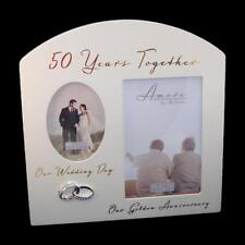 50th ANNIVERSARY 50 Years Together Golden Amore Photo Frame