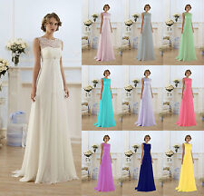 New Long Chiffon Evening Formal Party Ball Gown Prom Bridesmaid Dress Cocktail