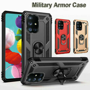Samsung Galaxy A51 Shockproof Military Case Cover Armor 360 Stand Ring Holder