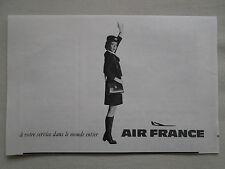 3/1970 PUB AIR FRANCE AIRLINE HOTESSE DE L'AIR STEWARDESS ORIGINAL FRENCH AD