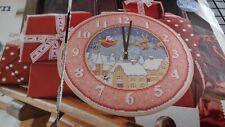 Countdown to Christmas Clock Cross Stitch Chart Pattern