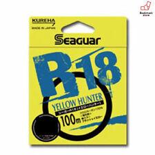NEW Seaguar R18 Yellow Hunter 100m 4lb #1 Flash Yellow 0.165mm Fluorocarbon JP