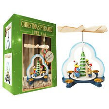 German Christmas Tree Pyramid Play Set- 9 inch - Table Top Holiday Decoration