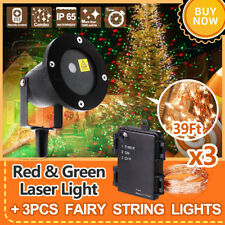 3x Fairy String Lights + Motion Star Laser Projector Landscape Lamp for Chritmas