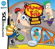 DISNEY Phineas e Ferb cavalcare di nuovo per Bambini Gioco Nintendo DS OTTIME CONDIZIONI