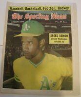 The Sporting News, (8/9/1975), baseball,magazine,Claudell Washington,Oakland A's