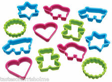 Kitchen Craft Lets Make Assorted Fun Shaped Plastic Cookie Cutters Set of 12