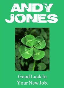 Personalised 4 Leaf Clover 'Good Luck' Card