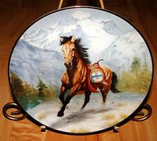 War Ponies Of The Plains Thunderfoot A Pawnee War Pony Indian Horse Plate