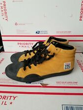 VISION STREET WEAR High Top Sneakers Yellow Suede Used Size Mens US 12