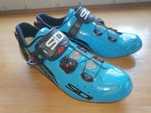 Sidi Wire Carbon Vernice Road Cycling Shoes Blue / Black Size 43 / UK 8 /8.5