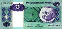 Angola banconota 2011 nove di 5 kwanzas pick 144c UNC