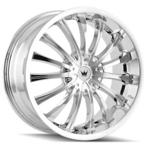 "Mazzi 351 Hype 18x7.5 4x100/4x4.5"" +40mm Chrome Wheel Rim 18"" Inch"