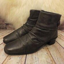 Womens Rieker Brown Zip Up Mid Heel Ankle Boots Size UK 6.5 EUR 40