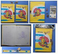 Diario Segreto vintage Red Girl con lucchetto canarino giallo acquario ape love