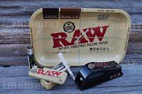 RAW TRAY BUNDLE: RAW TRAY/ RAW 1/4 FILLER/ 10 RAW 1.25 ORGANIC CONES WITH TIN